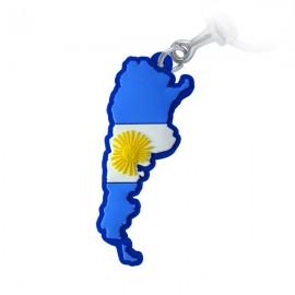 Argentina Mapa - Chaveiro Emborrachado