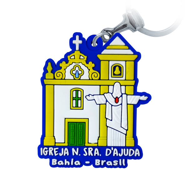 Bahia Igreja D'Ajuda - Chaveiro Emborrachado