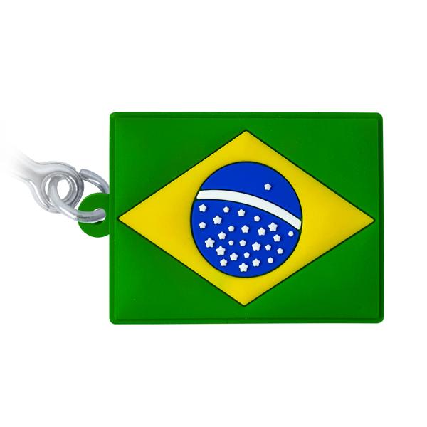 Brasil Bandeira - Chaveiro emborrachado