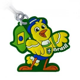 Brasil Canário - Chaveiro emborrachado