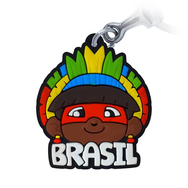 Brasil Índio - Chaveiro emborrachado