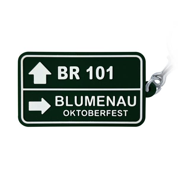 Blumenau Placa BR 101 - Chaveiro Emborrachado