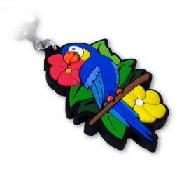 Arara Azul - Chaveiro Emborrachado