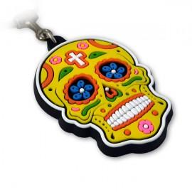 Caveira Mexicana Amarela - Chaveiro Emborrachado