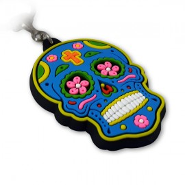 Caveira Mexicana Azul - Chaveiro Emborrachado
