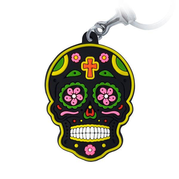 Caveira Mexicana Preta - Chaveiro Emborrachado