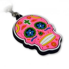 Caveira Mexicana Rosa - Chaveiro Emborrachado