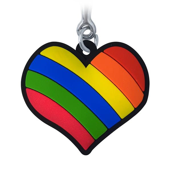 Coração LGBT- Chaveiro Emborrachado