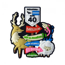 Argentina Placa de Localização - Ímã de Geladeira