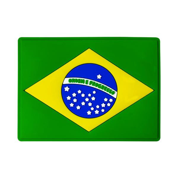 Brasil Bandeira - Imã de Geladeira