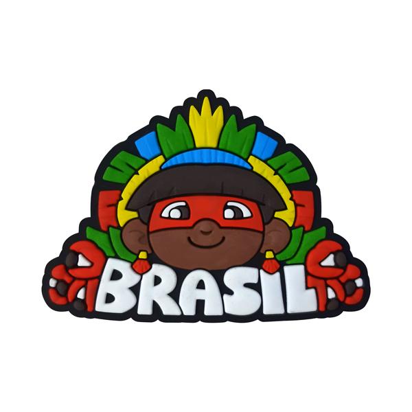 Brasil Índio - Imã de Geladeira