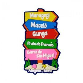 Maragogi Placa Localização 2 - Imã de Geladeira