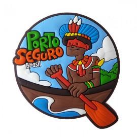 Porto Seguro Índio Jangada - Imã de geladeira
