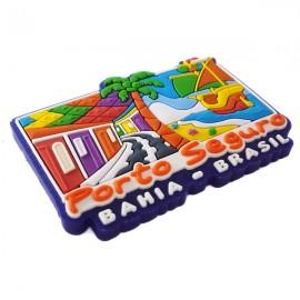 Porto Seguro Casinhas coloridas - Imã de geladeira