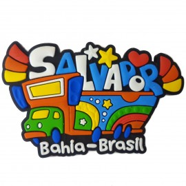 Salvador Trio Elétrico - Imã de Geladeira