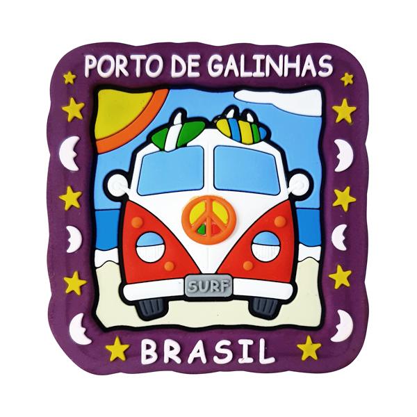 Porto de Galinhas Kombi - Imã de Geladeira