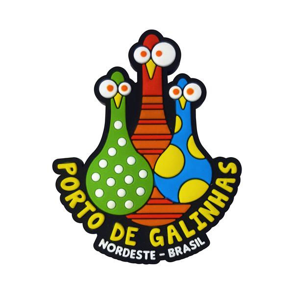 Porto de Galinhas Placa Pinos - Imã de Geladeira