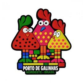 Porto de Galinhas Fofinhas - Imã de Geladeira