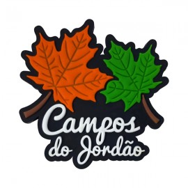 Campos do Jordão folhas 2 - Imãs de Geladeira