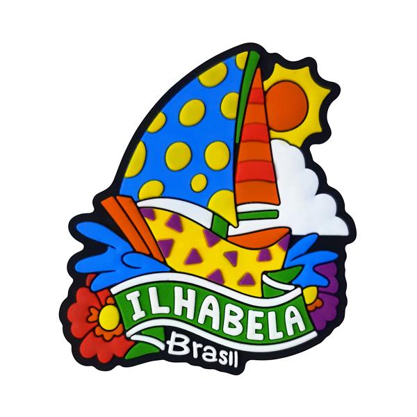 Ilhabela Barco Veleiro - Imã de Geladeira