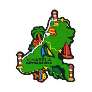 Ilhabela Mapa - Imã de Geladeira