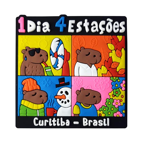 Curitiba 4 Estações - Imã de Geladeira