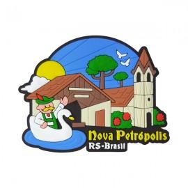 Nova Petrópolis Aldeia do Imigrante 2 - Imã de Geladeira