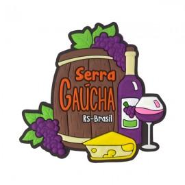 Serra Gaúcha Vinho  - Imã de Geladeira