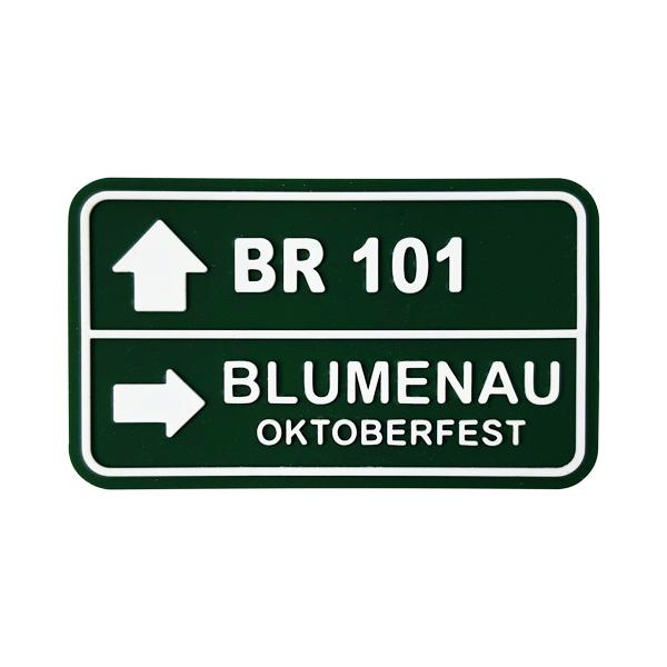 Blumenau Placa BR 101 - Imã de Geladeira