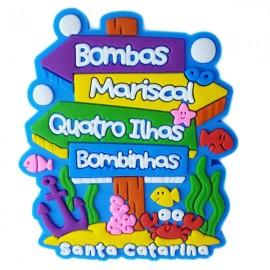Bombinhas Placa Localização - Imã de Geladeira
