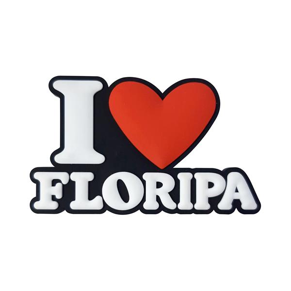 I Love Floripa modelo 2 - Imã de Geladeira