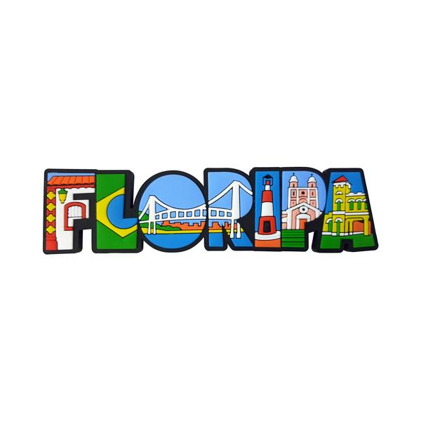 Floripa Letreiro Turismo - Imã de Geladeira