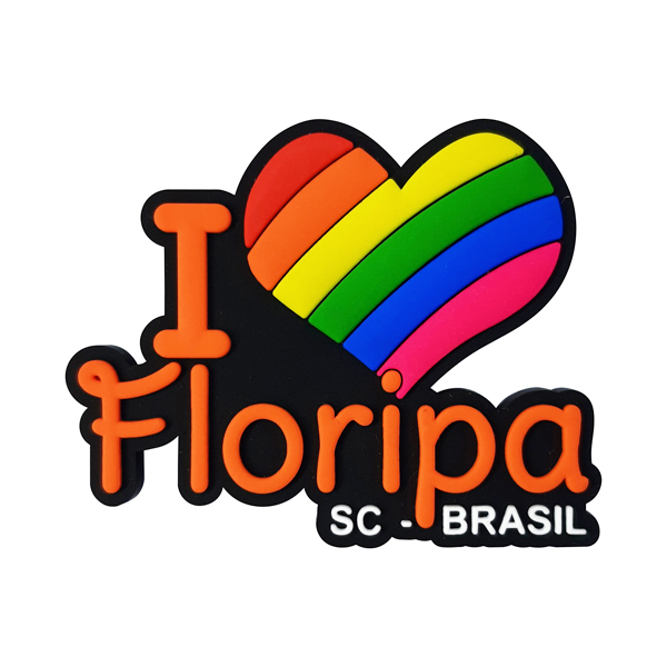 I Love Floripa modelo 1 - Imã de Geladeira