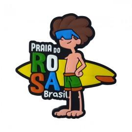 Praia do Rosa SC Surfista - Imã de Geladeira