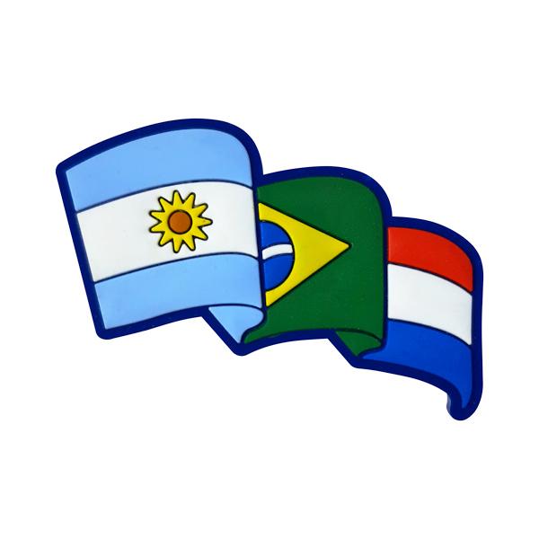 Argentina Brasil Paraguai 1 - Imã de Geladeira