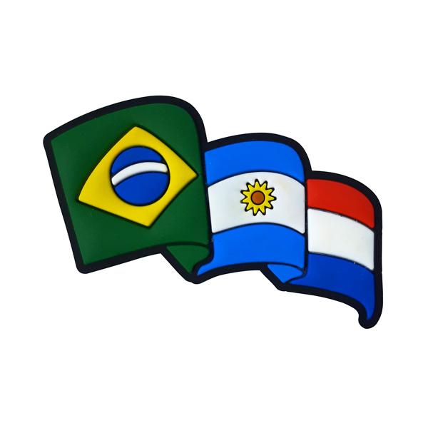 Argentina Brasil Paraguai 2 - Imã de Geladeira