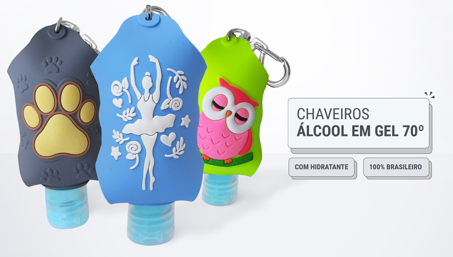 Chaveiros Alcool Em Gel 70