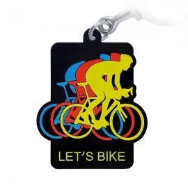 Let's Bike  - Chaveiro Emborrachado