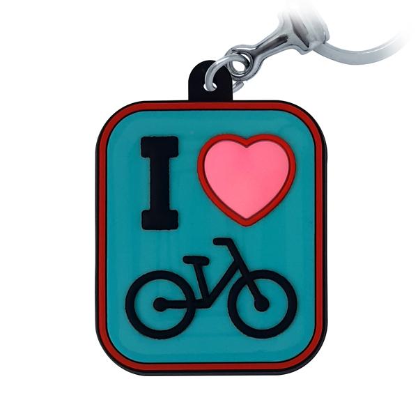 I love Bike  - Chaveiro Emborrachado
