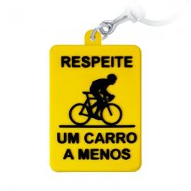 Bike um Carro a Menos  - Chaveiro Emborrachado