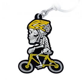 Ciclista Esqueleto - Chaveiro Emborrachado