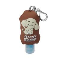 Elefante Fofo - Chaveiro Álcool Em Gel 70