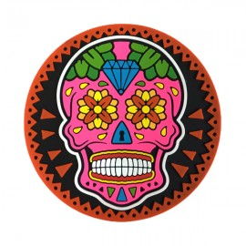 Caveira Mexicana Rosa - Porta-Copo