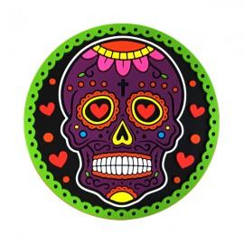 Caveira Mexicana roxa - Porta-Copo