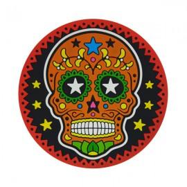 Caveira Mexicana Laranja - Porta-Copo